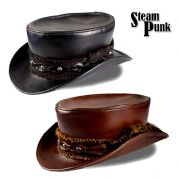 Steampunk Top Hat in Brown or Black
